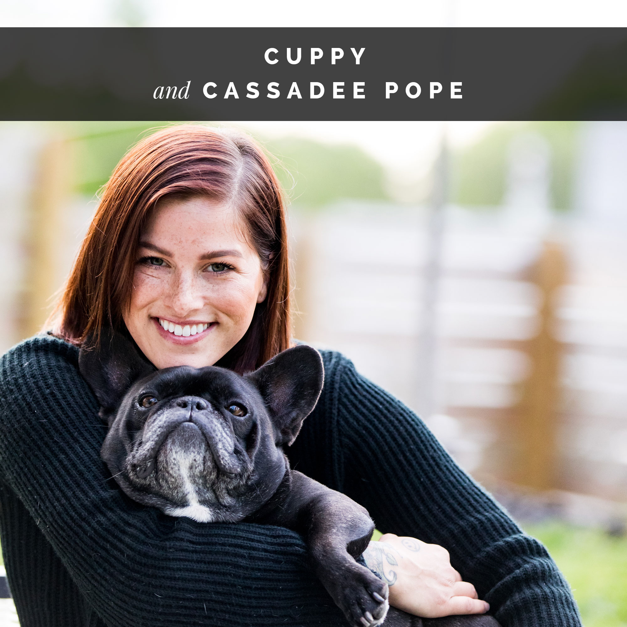 cassadee pope and her dog, cuppy
