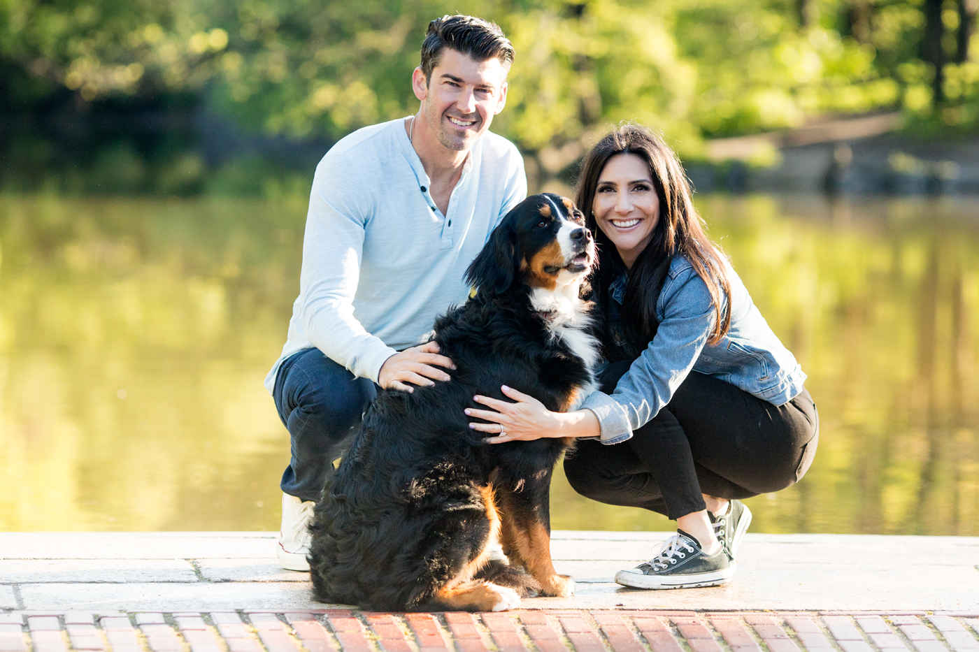 Central Park Engagement | NYC Engagement with Dogs by Sara Kauss Photography