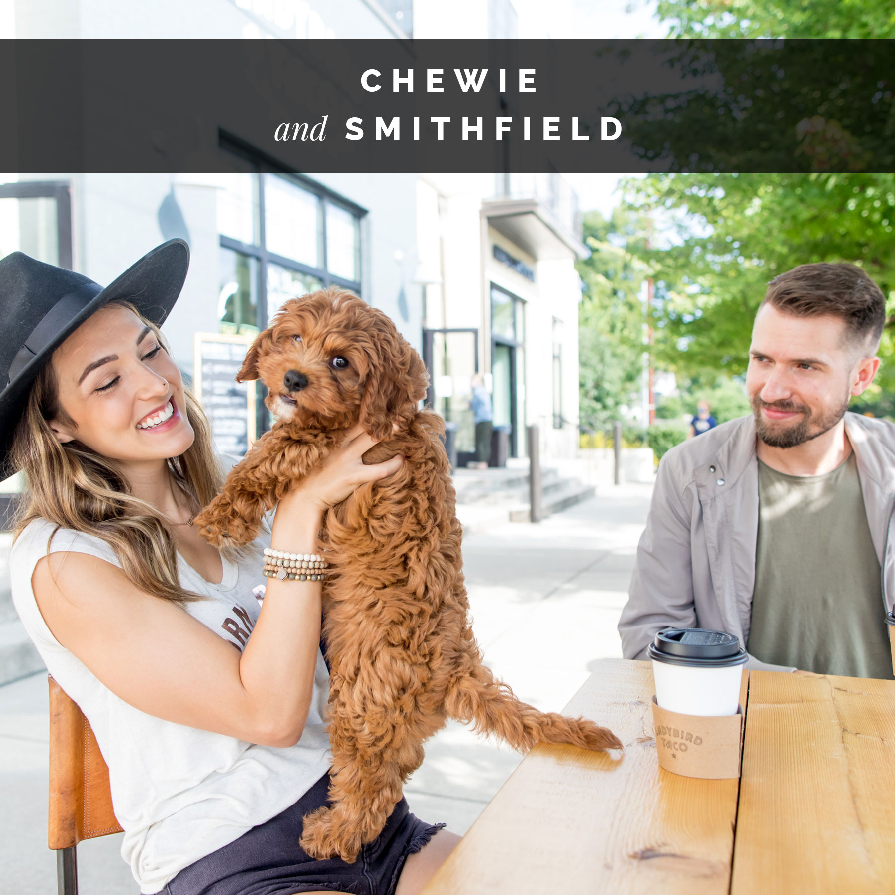 Smithfield and their dog, Chewie | Celebrity Dogs and Their People by Sara Kauss