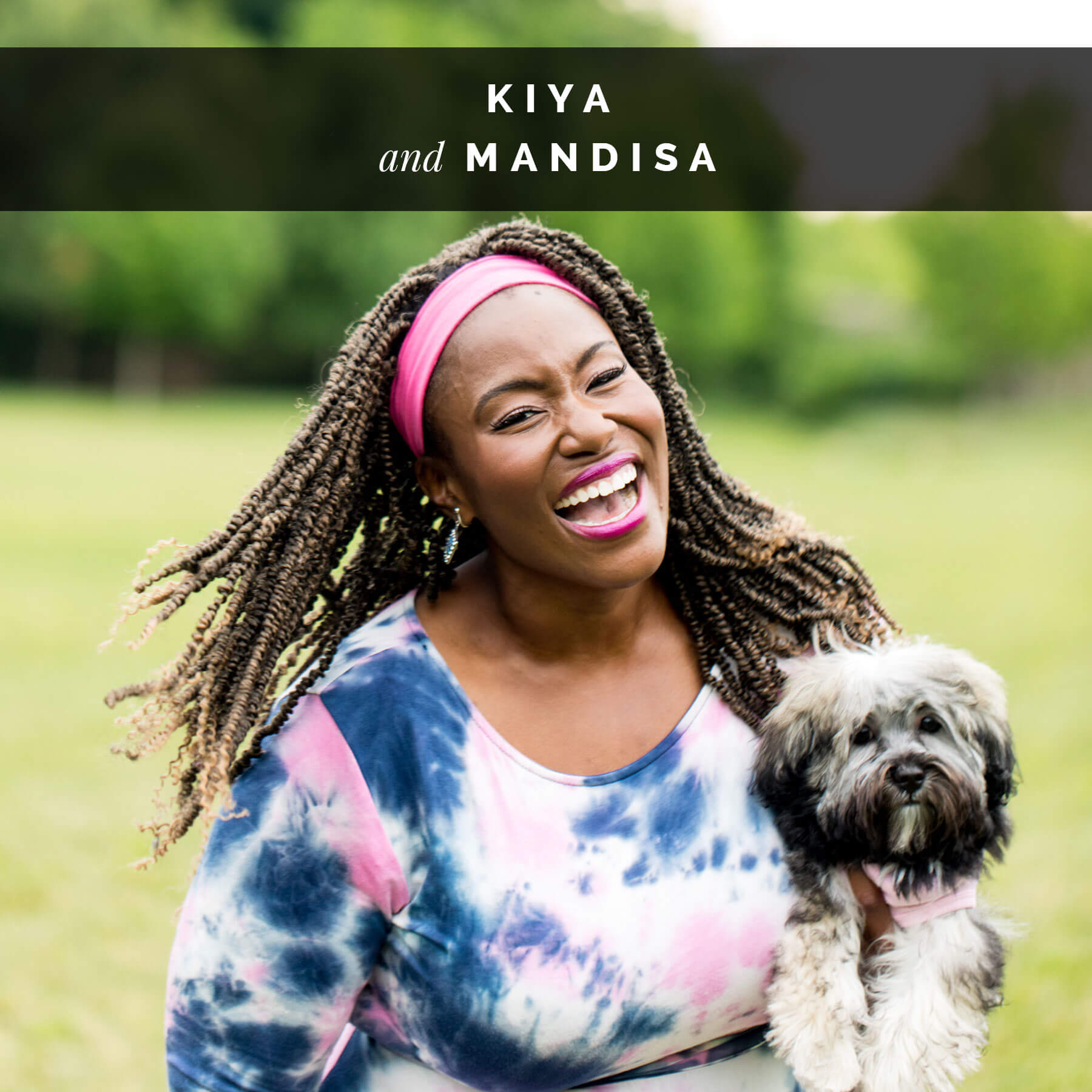 Mandisa and her dog, Kiya | Celebrity Dogs and Their People by Sara Kauss