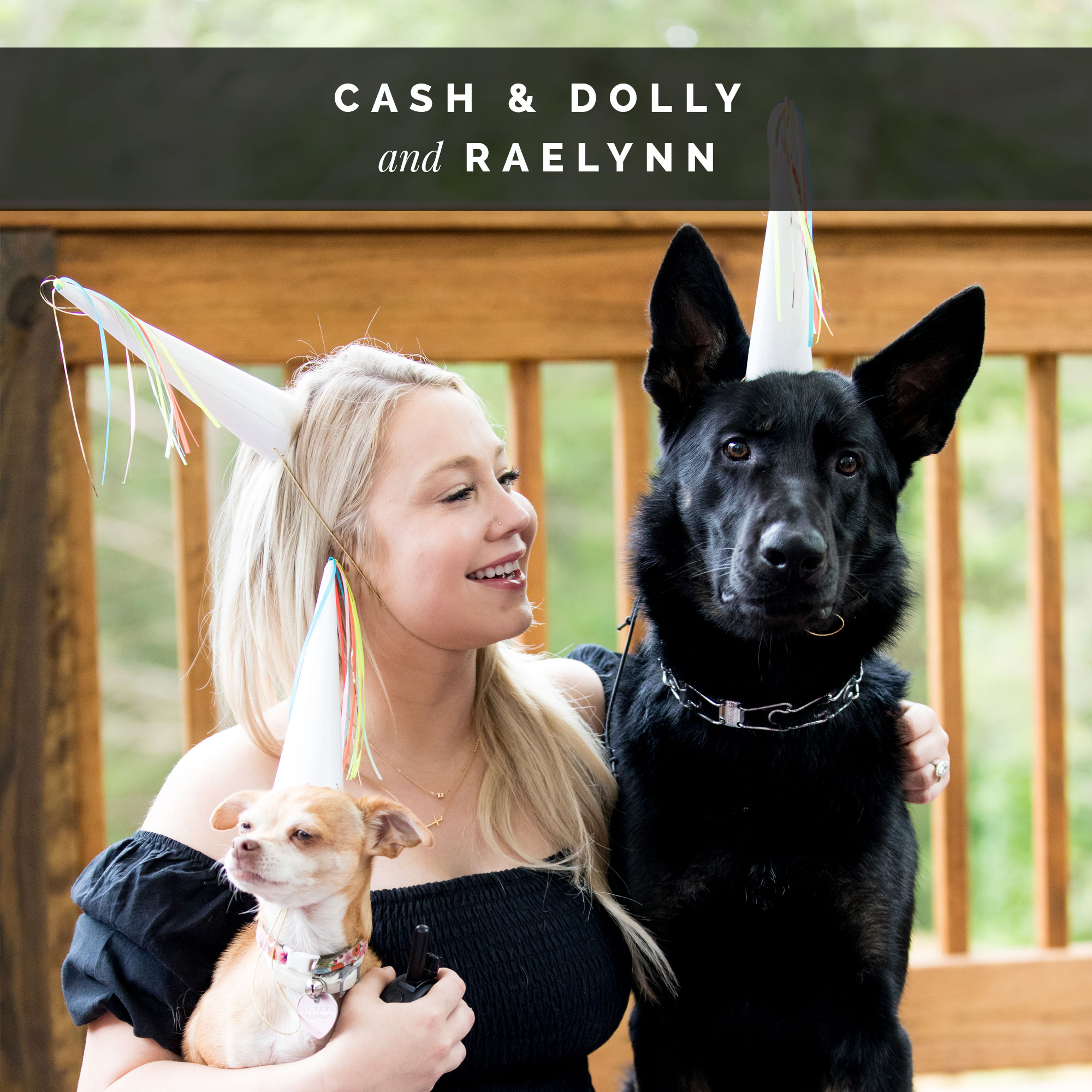 Photo of country artist RaeLynn and her dogs | Celebrity Dogs and their people by Sara Kauss